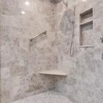 walk in shower, bathroom remodel, tiled shower