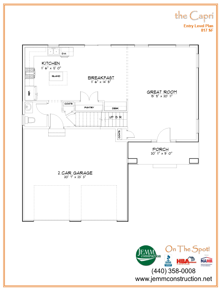Available floor plans jemm construction for Capri floor plan