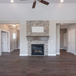 Kitchen Fireplace in Fairview Home
